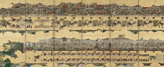 画像: 「二条城行幸図屛風」(左隻) 泉屋博古館