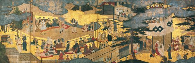 画像: 重要文化財 阿国歌舞伎図屏風 京都国立博物館