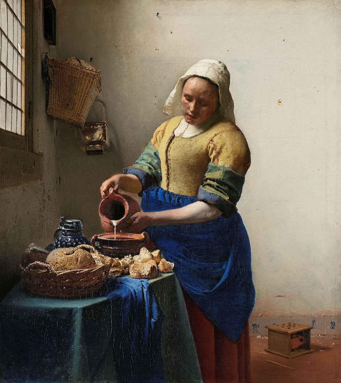 画像: ヨハネス・フェルメール《牛乳を注ぐ女》1658年-1660年頃 アムステルダム国立美術館Rijksmuseum. Purchased with the support of the Vereniging Rembrandt, 1908