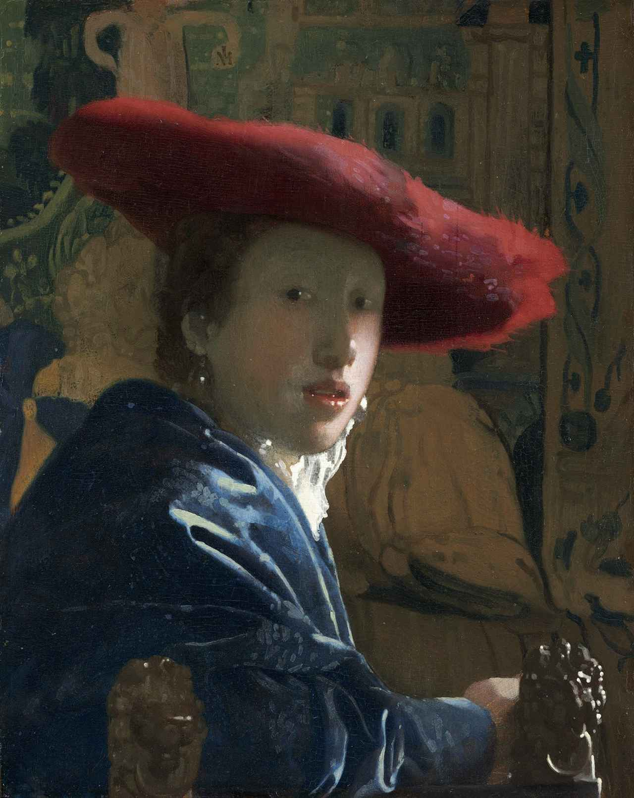 画像: ヨハネス・フェルメール 《赤い帽子の娘》1665-1666年頃 ワシントン・ナショナル・ギャラリー National Gallery of Art, Washington, Andrew W. Mellon Collection, 1937.1.53  ※12月20日(木)まで展示