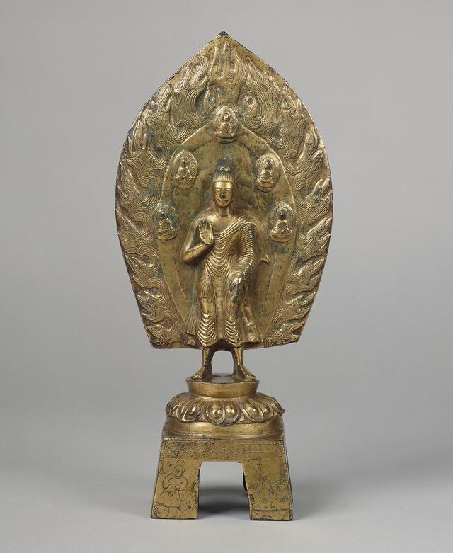 画像: 重要文化財 鍍金弥勒仏立像 太和 22年銘 北魏時代 (498) 泉屋博古館所蔵
