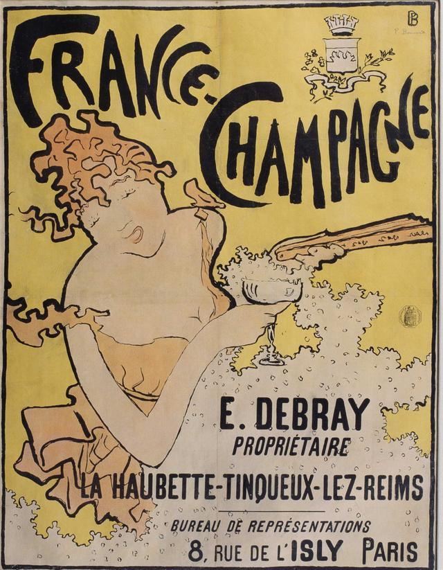 画像: ピエール・ボナール《フランス=シャンパーニュ》1891年 多色刷りリトグラフ 78×50cm 川崎市市民ミュージアム