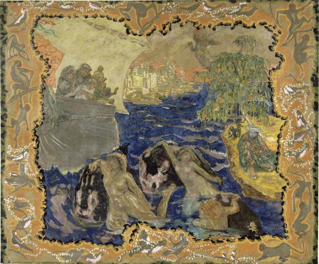 画像: ピエール・ボナール《水の戯れ あるいは 旅》1906-10年 油彩、カンヴァス 248.6×298.3cm オルセー美術館 © RMN-Grand Palais (musée d'Orsay) / Hervé Lewandowski / distributed by AMF