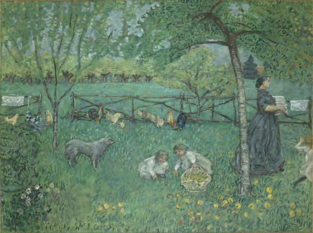 画像: ピエール・ボナール《大きな庭》1895 年 油彩、カンヴァス 168×221 cm   オルセー美術館 © RMN-Grand Palais (musée d'Orsay) / Hervé Lewandowski / distributed by AMF