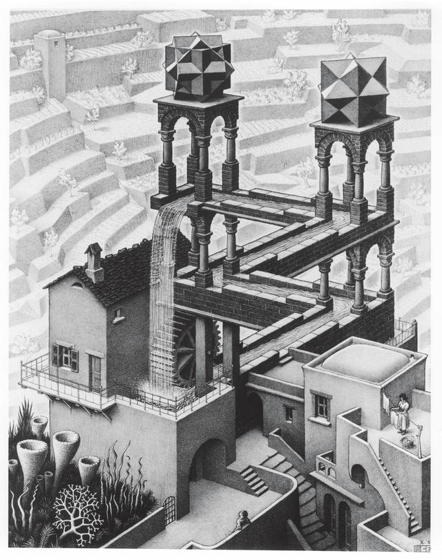 画像: 《滝》1961年 All M.C. Escher works © The M.C. Escher Company, The Netherlands.All rights reserved. www.mcescher.com