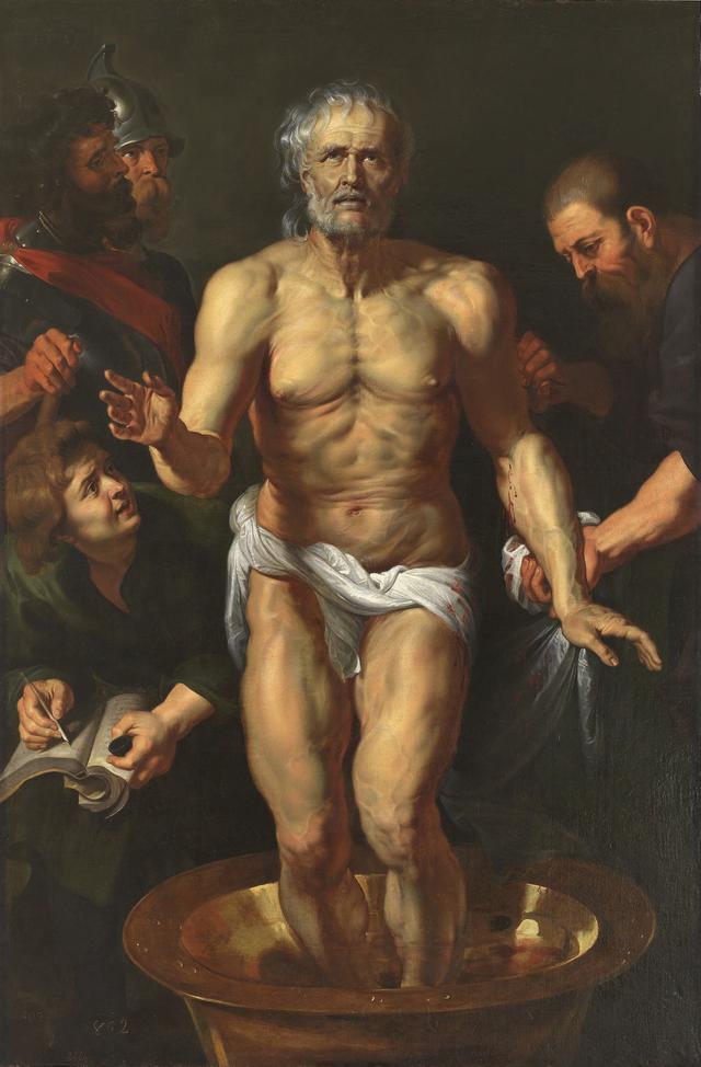 画像: 《セネカの死》 ペーテル・パウル・ルーベンスと工房 1615 / 16年 油彩/カンヴァス マドリード、プラド美術館 ©Madrid, Museo Nacional del Prado