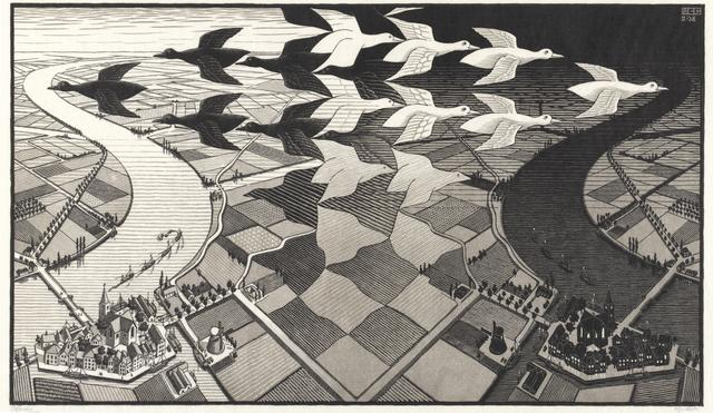 画像: 《昼と夜》 1938年 All M.C. Escher works © The M.C. Escher Company, The Netherlands.All rights reserved. www.mcescher.com