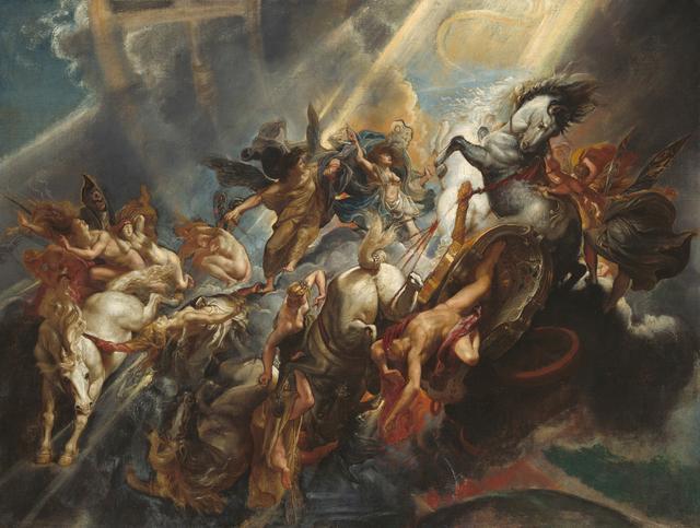 画像: 《パエトンの墜落》 ペーテル・パウル・ルーベンス 1604-05年頃、おそらく1606-08年頃に再制作 油彩/カンヴァス ワシントン、ナショナル・ギャラリー National Gallery of Art, Washington, Patron's Permanent Fund, 1990.1.1