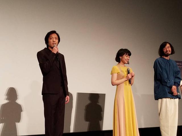 画像: (左より)若葉⻯也、岸井ゆきの、今泉監督