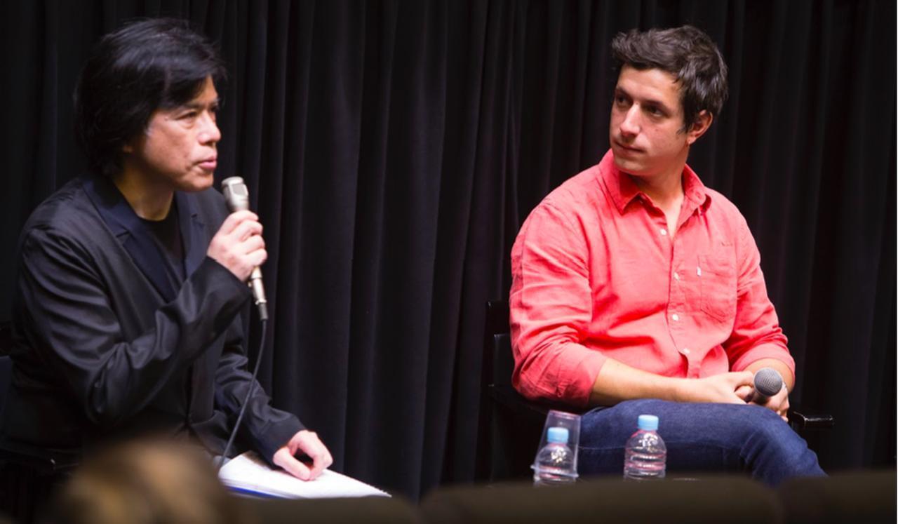 画像: 左より 聞き手の映画批評家の大寺眞輔さんとクレマン・シュナイダー監督