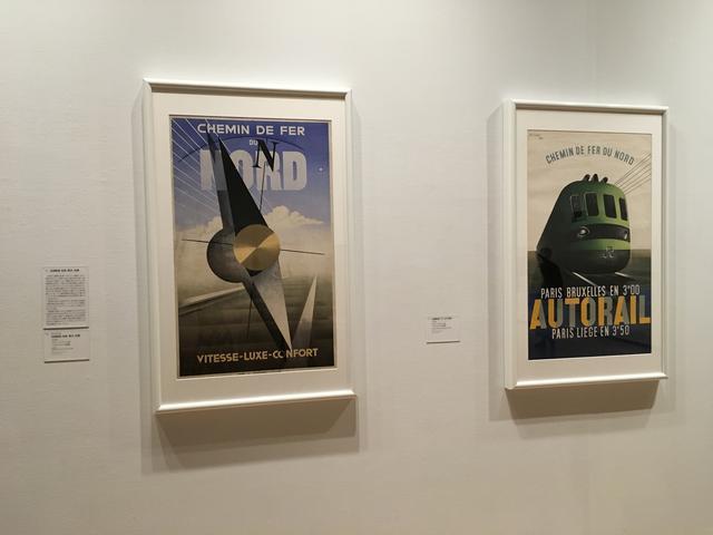 画像: 左)カッサンドル《北部鉄道:快速、贅沢、快適》1929年 ポスター(リトグラフ、紙) パリ市フォルネー図書館蔵 右)サヴィニャック《北部鉄道:ディーゼル特急》1937年 ポスター(リトグラフ、紙) パリ市フォルネー図書館蔵 photo©︎cinefil
