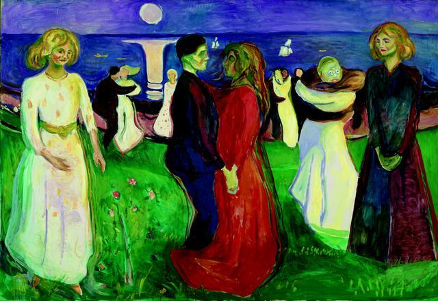 画像: エドヴァルド・ムンク《生命のダンス》1925 年 油彩、カンヴァス 143×208cm .