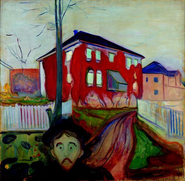 画像: エドヴァルド・ムンク《赤い蔦》1898-1900 年 油彩、カンヴァス 119.5×121cm .