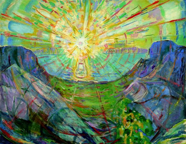 画像: エドヴァルド・ムンク《太陽》1910-13年 油彩、カンヴァス 163×205.5cm .