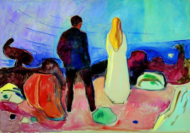 画像: エドヴァルド・ムンク《二人、孤独な人たち》1933-35年 油彩、カンヴァス 91×129.5cm .