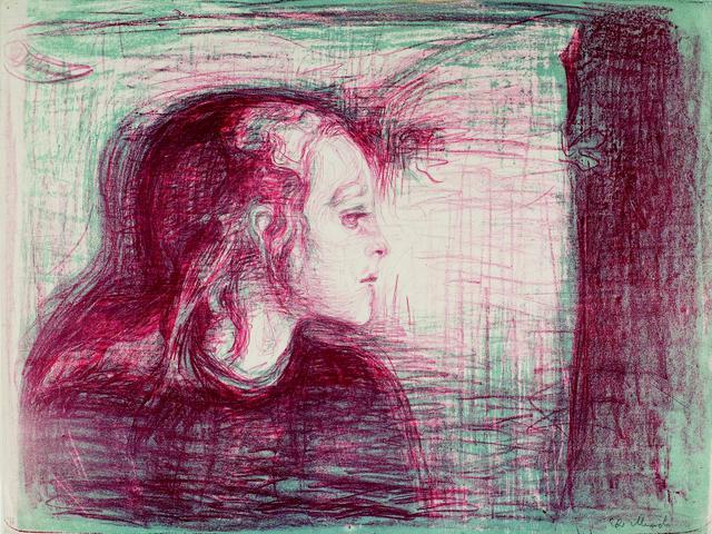 画像: エドヴァルド・ムンク《病める子Ⅰ》1896 年 リトグラフ 43.2×57.1cm .