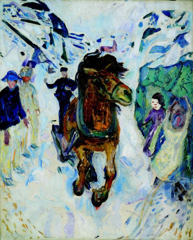 画像: エドヴァルド・ムンク《疾駆する馬》1910-12 年 油彩、カンヴァス 135.5×110.5cm .