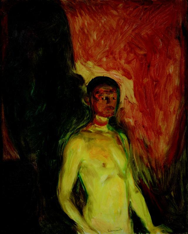 画像: エドヴァルド・ムンク《地獄の自画像》1903 年 油彩、カンヴァス 82×66cm .