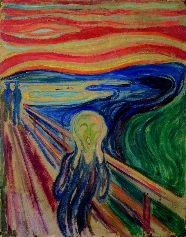 画像: エドヴァルド・ムンク《叫び》1910 年? テンペラ・油彩、厚紙 83.5×66cm .