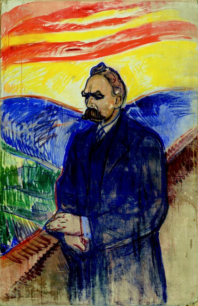 画像: エドヴァルド・ムンク《フリードリヒ・ニーチェ》1906 年 油彩・テンペラ、カンヴァス 201×130cm .