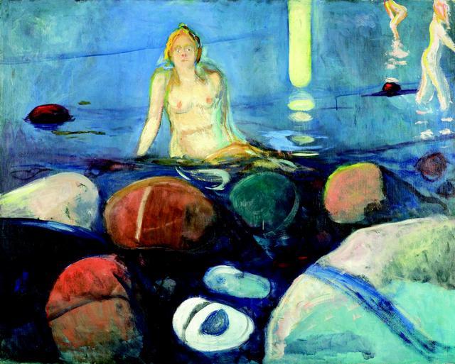 画像: エドヴァルド・ムンク《夏の夜、人魚》1893 年 油彩、カンヴァス 93.5×118cm .