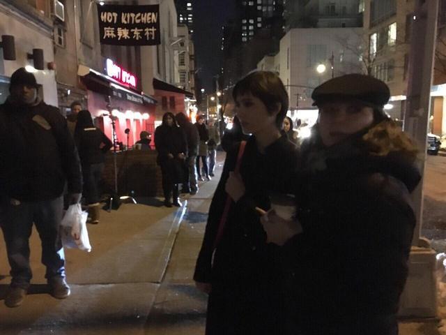 画像: NYの街頭撮影シーン