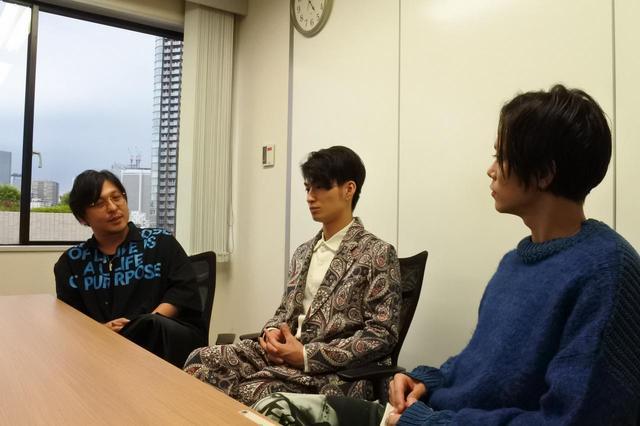 画像: 左より西田大輔監督、出演の松田凌さん・玉城裕規さん