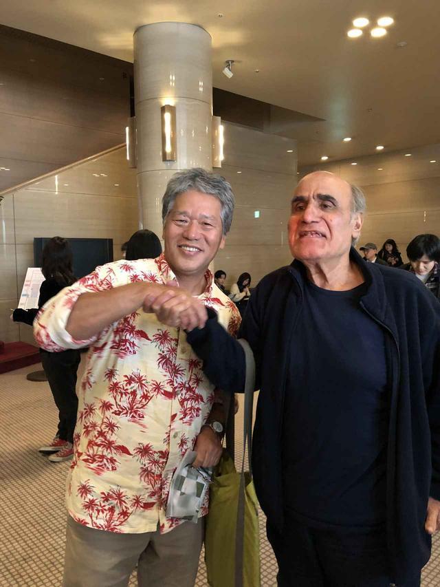 画像: 中江監督とアミール・ナデリ監督「