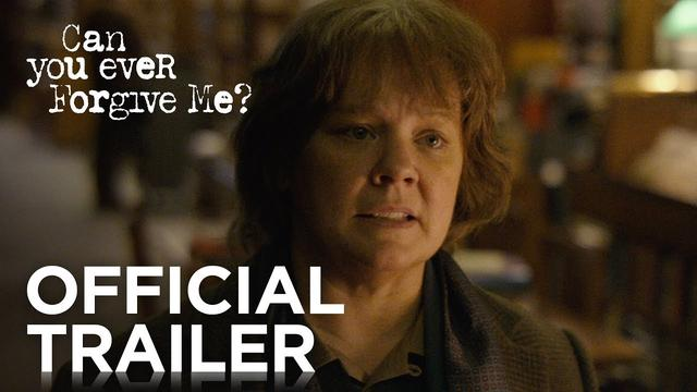 画像: CAN YOU EVER FORGIVE ME? | Official Trailer [HD] | FOX Searchlight youtu.be