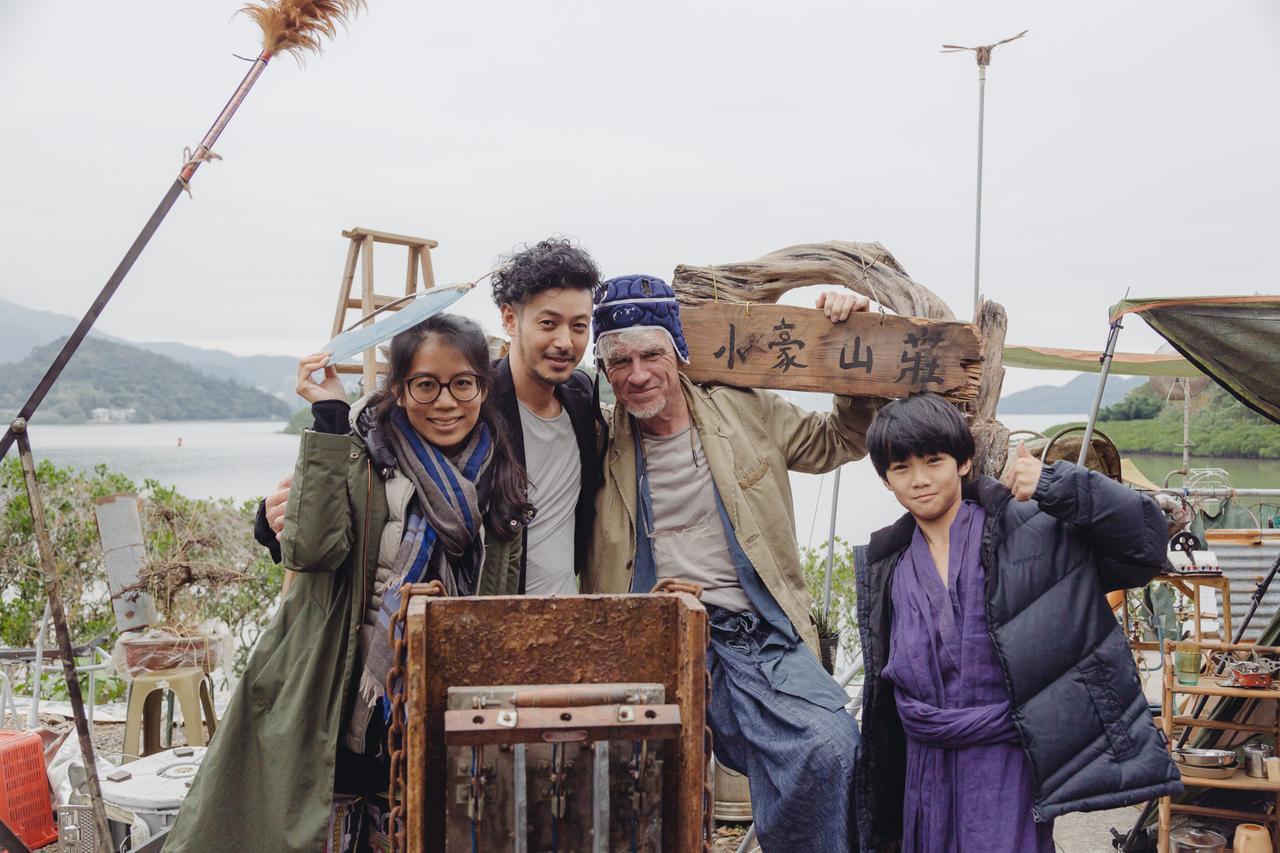 画像: 『宵闇真珠』メイキング写真より 左より、ジェニー・シュン監督、オダグリジョー、クリストファー・ドイル監督
