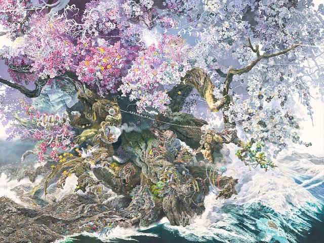 画像: 池田 学 《誕生》 2013-2016年 ペン、アクリル・インク、透明水彩、紙、板にマウント 300×400cm 所蔵:佐賀県立美術館 デジタルアーカイブ:凸版印刷株式会社 Courtesy: Mizuma Art Gallery, Tokyo / Singapore