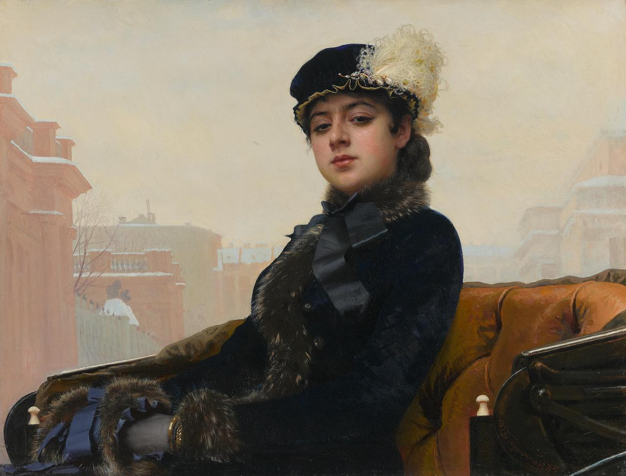 画像: イワン・クラムスコイ 《忘れえぬ女(ひと)》 1883年 油彩・キャンヴァス © The State Tretyakov Gallery
