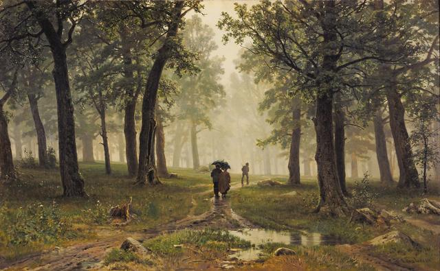 画像: イワン・シーシキン 《雨の樫林》1891年 油彩・キャンヴァス © The State Tretyakov Gallery