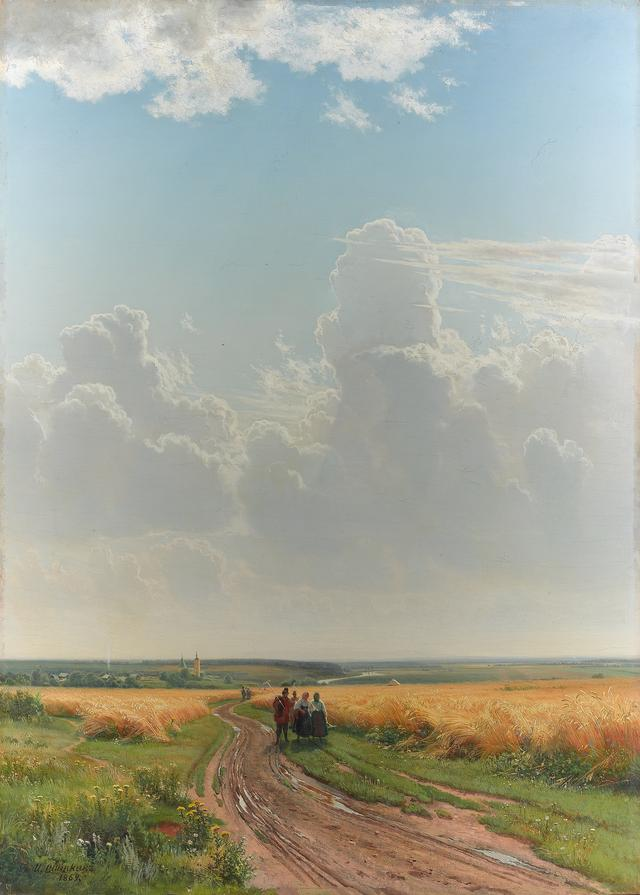 画像: イワン・シーシキン 《正午、モスクワ郊外》 1869年 油彩・キャンヴァス © The State Tretyakov Gallery
