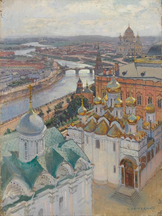 画像: ニコライ・グリツェンコ 《イワン大帝の鐘楼からのモスクワの眺望》 1896年 油彩・キャンヴァス © The State Tretyakov Gallery
