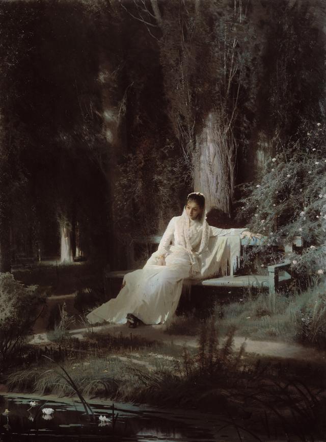 画像: イワン・クラムスコイ 《月明かりの夜》1880年 油彩・キャンヴァス © The State Tretyakov Gallery