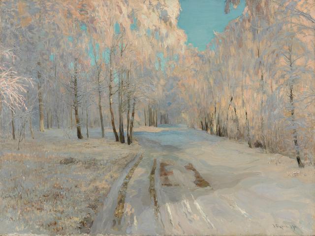 画像: ワシーリー・バクシェーエフ 《樹氷》1900年 油彩・キャンヴァス © The State Tretyakov Gallery