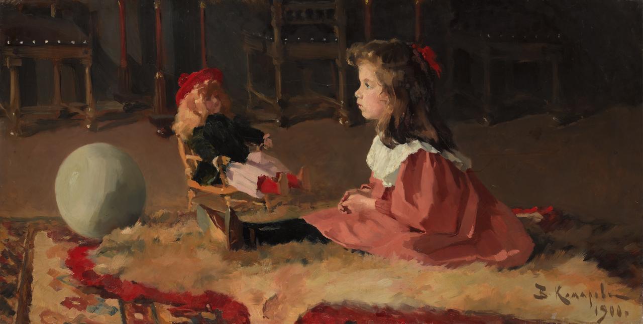 画像: ワシーリー・コマロフ 《ワーリャ・ホダセーヴィチの肖像》1900年 油彩・キャンヴァス © The State Tretyakov Gallery