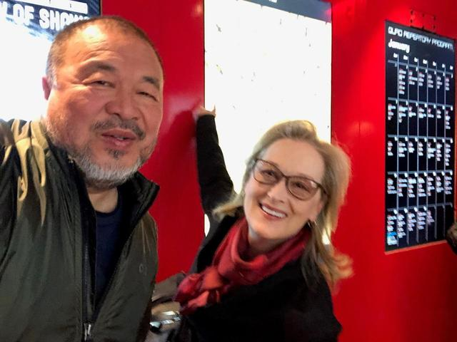 画像: Ai Weiwei with Meryl Streep at the special screening of HUMAN FLOW