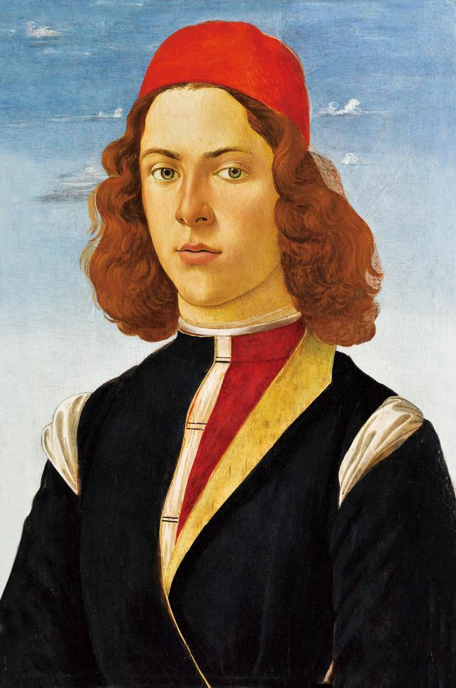 画像: 《赤い縁なし帽をかぶった若い男性の肖像》サンドロ・ボッティチェリと工房 1480-1490年頃 Photo © RMN-Grand Palais (musée du Louvre) / Michel Urtado /distributed by AMF-DNPartcom