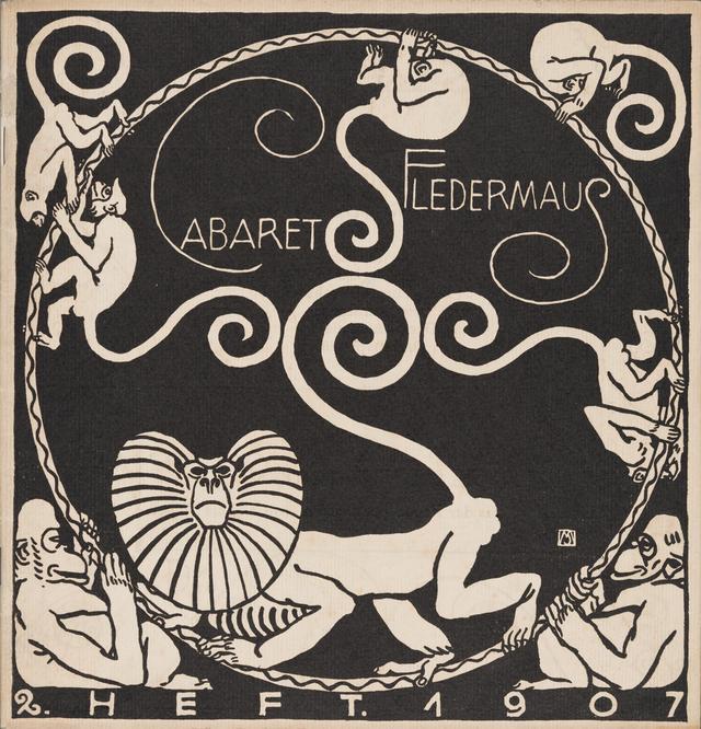 画像: 表紙:モーリツ・ユンク、装丁:カール・オットー・チェシュカ 『キャバレー〈フレーダーマウス〉上演本』第2号 1907年 京都国立近代美術館