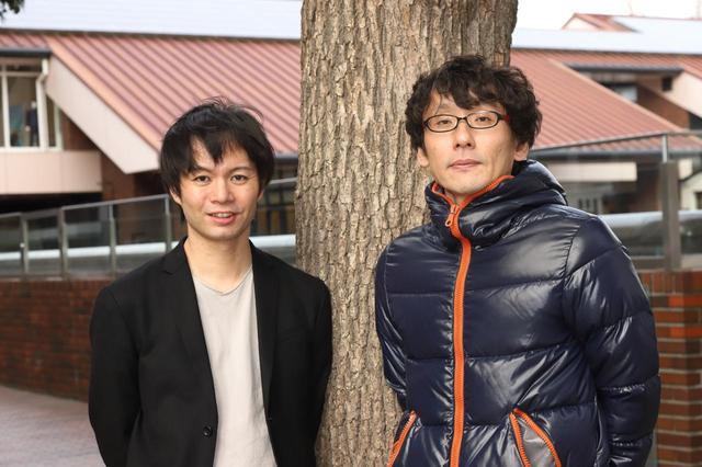 画像: 左より園田監督、田中監督、 photo by  tomoe otsu