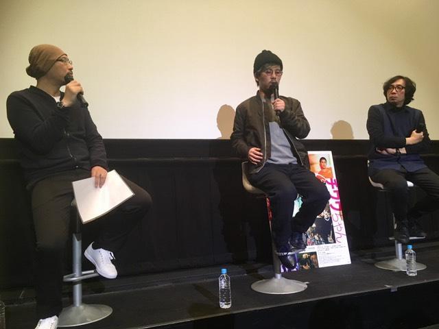 画像: 左より司会の森直人(映画評論家)、二宮健監督、行定勲監督