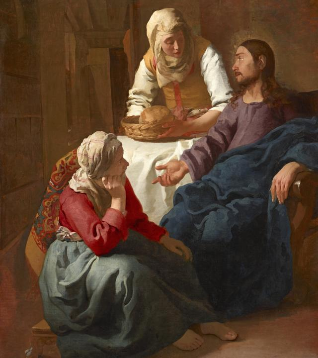 画像: ヨハネス・フェルメール《マルタとマリアの家のキリスト》1654-1655年頃 スコットランド・ナショナル・ギャラリーNational Galleries of Scotland, Edinburgh. Presented by the sons of W A Coats in memory of their father 1927