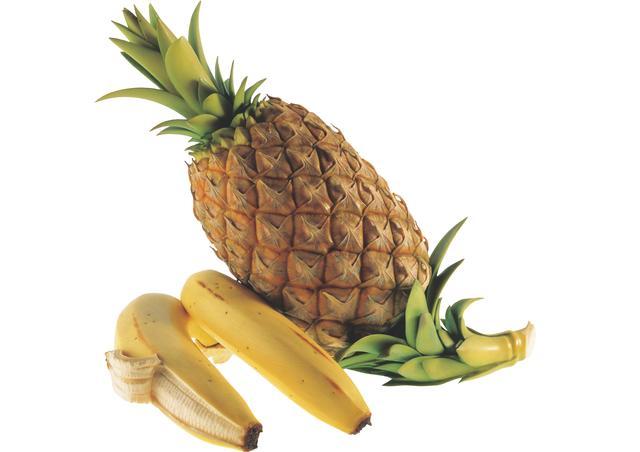 画像: 【牙彫】安藤緑山《パイナップル、バナナ》清水三年坂美術館蔵