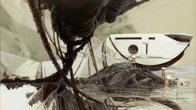 画像: <Memories Of The Future―Matsui Collection> JUNGLE CRAWLER : 4 (Gouache)© Syd Mead, Inc. 画集最新刊「シド・ミード ムービーアート」で翻訳監修を担当したシド・ミード研究家、コレクターである松井博司(まつい・ひろし)の秘蔵コレクションより、『Hot Wheels』のポスターデザインのほか、鉛筆による下絵、マーカーによるスケッチ、トレース画、完成画に至る制作過程を、原画で、世界初公開。