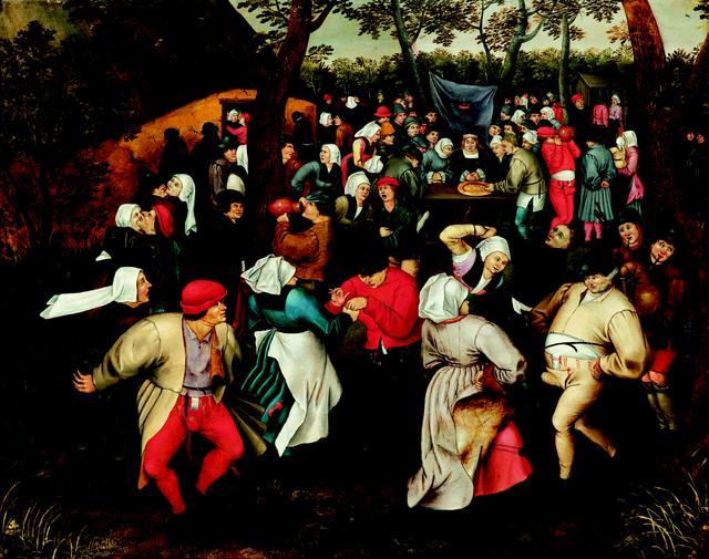 画像: ピーテル・ブリューゲル2世「野外での婚礼の踊り」1610年頃 Private Collection