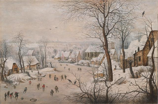 画像: ピーテル・ブリューゲル2世「鳥罠」1601年 Private Collection