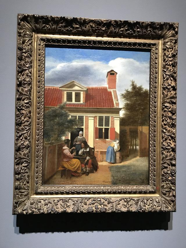 画像: ピーテル・デ・ホーホ《人の居る裏庭》1663-1665年頃 アムステルダム国立美術館 Rijksmuseum. On loan from the City of Amsterdam (A. van der Hoop Bequest)  ©cinefil