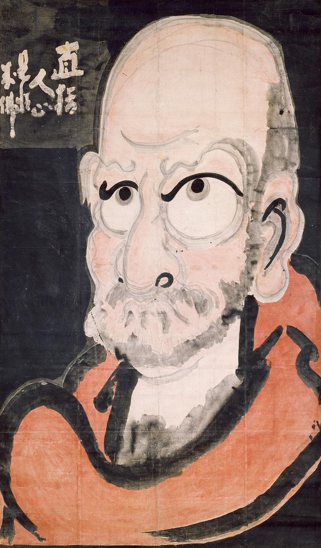 画像: 白隠慧鶴 《達磨図》 紙本着色 一幅 192.0×112.0cm 大分・萬壽寺